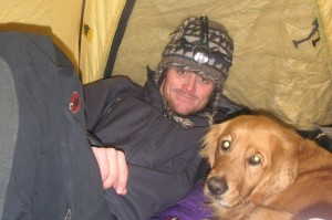 Tent-bound on a winter attempt of Challenger & Kit Carson Peaks in 2006