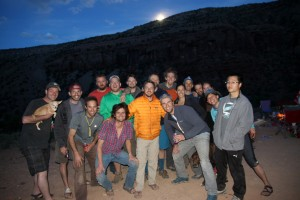 Saturday night group shot with a nice moonrise