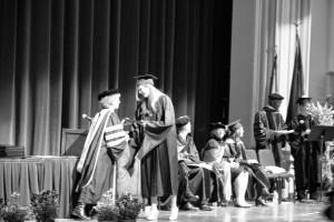 Kristien receiving her diploma