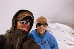 Ben & myself on Jacque's summit (13,205')