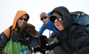 Happy birthday, Kona! Sorry, we are on top of a cold mountain!
