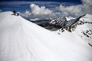 J & Kona skinning Buckskin's summit ridge