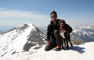 Kona & myself on top of Torreys Peak (14,267') with Grays Peak behind