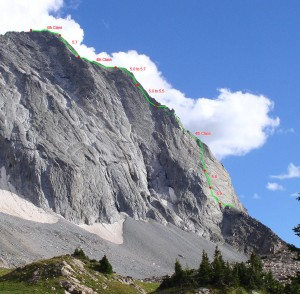 Capitol's Northwest Buttress route