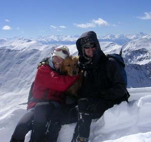 A younger Kristine, Rainier, & myself on top of Democrat 11 years ago