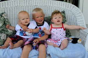 Cousins (Left to right: Teo, Kai, Sawyer)