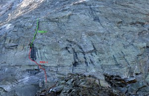 I labelled the 1st two pitches of Northwest Buttress route