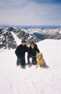 Billy, me, & Rainier on the summit of Holy Cross (14,005') in early July 2004