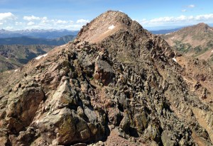 Red Peak summit (13,189') comes into view