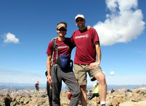 Dan and I on the summit of Holy Cross