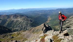 Me on the Northwest Ridge with Piney Lake in the distance