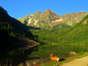 Starting out with a view of the Maroon Bells. Photo by Caleb Wray