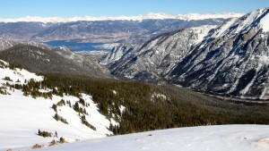 Looking east to Frisco and Lake Dillon from Sneva's summit