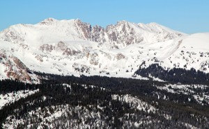 Red Diamond Ridge as seen from Sneva's summit