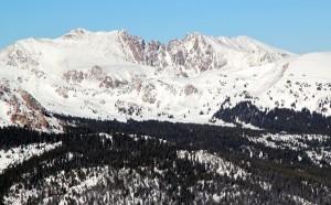 Red Diamond Ridge as seen from Sneva's summit