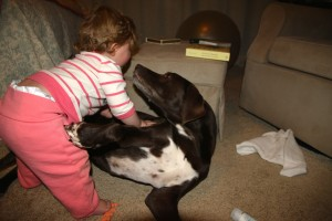 And, of course, Kona tries to give Sawyer kisses