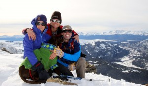 Me, Kristine, Kona, & Dillon on the summit of Mt. Arkansas (13,795')