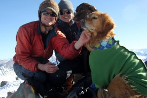 The four of us on a winter climb of La Plata Peak
