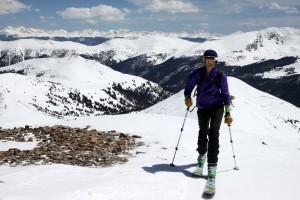 Kristine summitting!