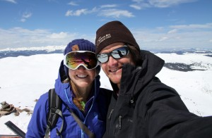 Kristine & I on the summit of Jacque Peak (13,205')