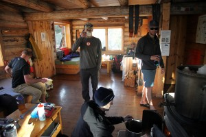 Inside the Harry Gates Hut