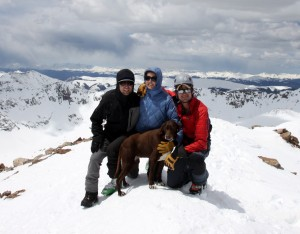 Mikey joins in for a summit pic