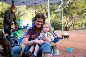 Me & Sawyer back at camp