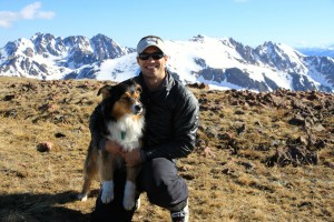 Derek & Maude on the summit of Deming Mtn (12,902')
