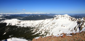 Looking over at West Deming. Joel, Kristine, Kona, & I skied this peak 's really fun and mellow southwest face last spring