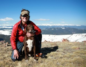 Me & Kona on the summit of Deming Mtn (12,902')