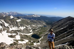 Me with Longs Peak in the far distance on the left