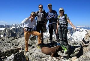 Group shot on Pauite's summit (13,088')