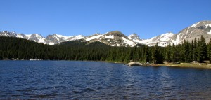 The Indian Peark as seen from Brainard Lake on our way out later in the day
