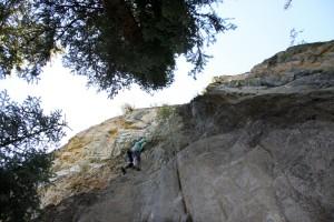 Kristine climbing Sweat (5.10b)