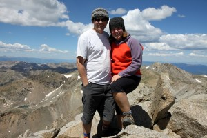 Billy & Larisa. This was Larisa's 1st 14er in 8 years well before her 3 young boys. I was very proud of her