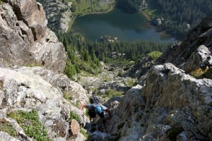 Steep gullies with fairly solid granite ensued