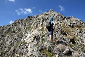 Reaching Avalanche Peak's summit