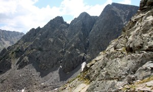 The large towers along its north ridge