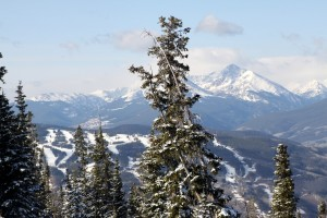 The view of Vail Mountain & Mt. of the Holy CRoss