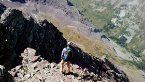 Me on a nice perch with Len Shoemaker Ridge & Basin below
