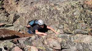 Me climbing Stan's 5.6 crack