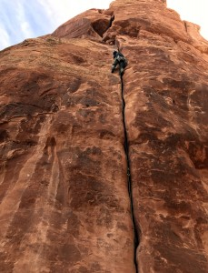 Me leading pitch 1 of Fast Draw. Photo by Steve