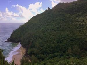 And leaving Hanakapi'ai Beach