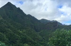 Typical mountainous terrain along the Napali Coast