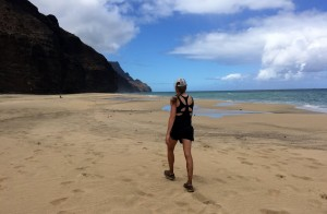 Kristine and Kalalau Beach