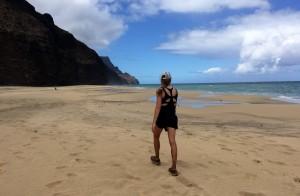 Kristine and Kalalau Beach