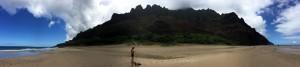 Panorama of Kalalau Beach