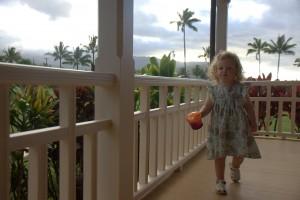 Sawyer walking around the home