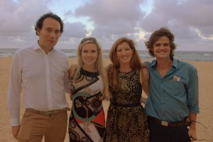 The four of us on the beach at the reception