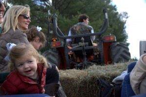 Ransome was the captain driving the tractor, but Sawyer always seemed to find herself into the pics